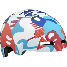 Lazer Street+ Helmet Kinder matte camo red-blue